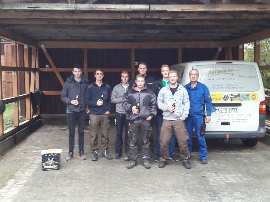 Carport fertig